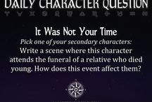 Personnages - questions