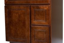 Cherry Mahogany Bathroom Vanities / Quality & Affordable Dark Cherry Wood (Leo Saddle) Bathroom Vanities from Everyday Cabinets