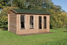 Log cabin ideas / Expand your living space with a log cabin, ideal for use as a home office, games room, studio, workshop or traditional summerhouse.