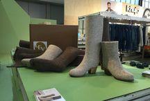 #Damesmode #fashion #laarzen #boots #Felt #Wool / #LEV01 100% wol vilten laarzen verkrijgbaar in 3 hoogtes 20, 30, 40 cm en 2 kleuren  licht grijs en donker bruin