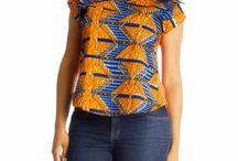 Ankara tops for jeans