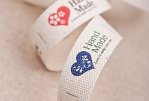 Fabric Labels / clrara design label #ribbon#label#Fabric