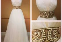 White and gold ♡ dress♡ styles