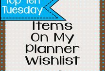Planners- Tips and Tricks