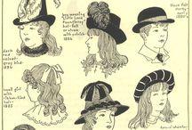 hat, hair
