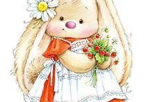 Cute pics / Tatty teddy, bunnies