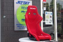 RECARO TS-G 赤単色 / 日本デザインレカロシェルシート。