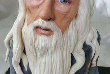 Dumbledore Cake / For Harry Potter Fans <3