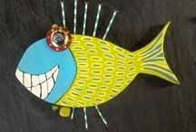Smiling fish / Wood art