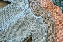 tricot bb : les petits hauts / les brassières, gilets, cardigans, robes