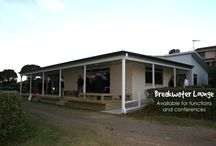 Conference Facilities / With spectacular views over the Tasman Sea, our new Breakwater Lounge and communal block offers a new event venue, ideal for small conferences, weddings, birthday parties or barbeques.