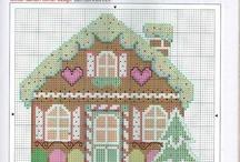 houses cross stitch