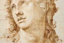 Michelangelo / desenhos / desenho de figura, Michelangelo Bunarroti