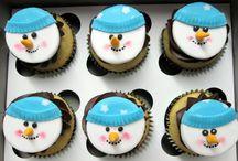 Christmas goodies / An assortment of cupcakes for Christmas