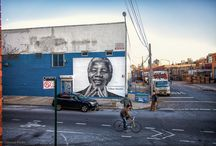 Nelson Mandela Art Mural / This is a mural completed by Sky High and Colossal Media on N 14th and Wythe in Brooklyn. / by Colossal Media