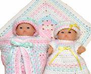 crochet for tiny dolls / mini-crochet: dresses, blankets, dolls&toyes and so on...)))