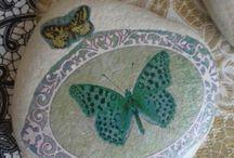 kamienky so servítkou - decupage stones