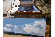 Outdoors / Images of pochade paintings and working outdoors