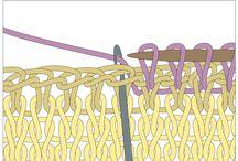 tehnici si puncte de tricotat , diagrame