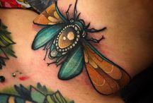 Bug tattoos / #Bugs #Tattoo #Tattoos #Tattooed #Skinart #Tat #Tattooart #Art #Design #Tattoodesign #Tatooisme #Tattooism #Ink #Inked