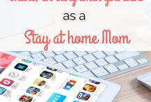Work At Home Mom Income SAHM WAHM / Stay at home mom or work at home mom income streams and possibilities.  SAHM WAHM