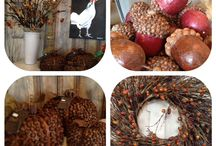 """Fall in Love"" / a must in decorative accessories this Fall. Everlasting.. berries, nuts, wreaths!!"