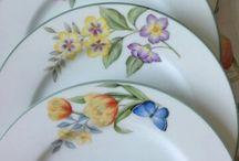 platos pintados en vidrio