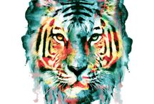 DesignByHumans / http://www.designbyhumans.com/shop/t-shirt/tiger/174046/ #DesignByHumans #tshirts #hoodies #wallart #iphonecase