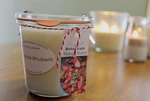 Farm House Candles / country style candles. Beautiful useful candle containers...