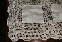 toalhas em crochet