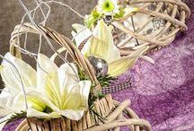 Dekorace pro váš domov / dekorace z proutí, svícny, andělé.