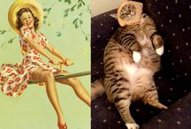 cats that look like pin up girls / and pin up boys