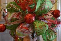 moño para decorar árbol guirnaldas de Navidad