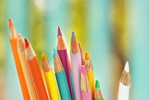 colored pencils,crayons,chalks 1 / by Colleen Yandle