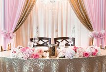 Pink and Gold Weddings / Pink and Gold Wedding Theme Ideas. Local Planners in the Wilmington Area that can help bring these ideas to life at your wedding include Fairytale Pursuits, Bubbly Events, Port City Event Planners, Knot Too Shabby Events, Kindred Spirit Events, Honeysuckle Events, & Design a Dream Events.