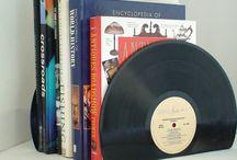 Vinyl Records / Vinyl Record Bookends