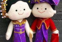 ndandut felt dolls / all of felt dolls in this board is made by me. all handstitched and always detail :)