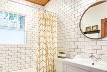 Yellow bathroom makeover