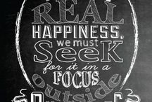 Chalkboard with great typography