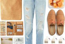 outfit tonos naranjas / Naranja, beige, mostaza, anaranjado, etc...