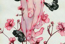 AllInspirations♥ / art girl boy flowers heart love stile gore beautifull ilustration draws inspiration references