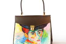 Vintange Handbags - Hand painted
