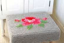 Crochet Footstool Love
