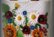 τσάντα με λουλούδια