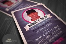 Sports cards / Sports card designs for inspiration, and make sure there is not any duplication.