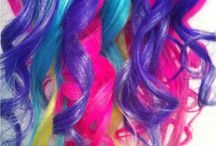 ` hair colors / chalked, dyed, even wigs. pretty hair galore!