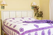 Purple Sheets Twin /  Purple Sheets Twin - Printed Bed Sheets - Twin Size Flat Sheet  / by Attiser