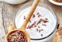 Yogurt y linaza para limpiar estomago