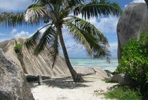 """Seychelles / The tropical island of the Seycelles is a true paradise and perhaps the most """"typical' of what a tropical island should look like."""