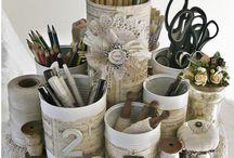 Craft Organization / Creative ways to store your stuff!